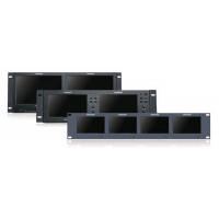 Multiple Rackmount and Pull-Out Monitors